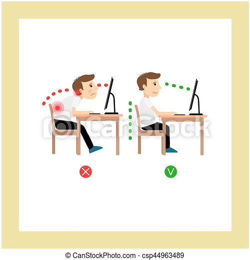 Correct sitting posture - csp44963489