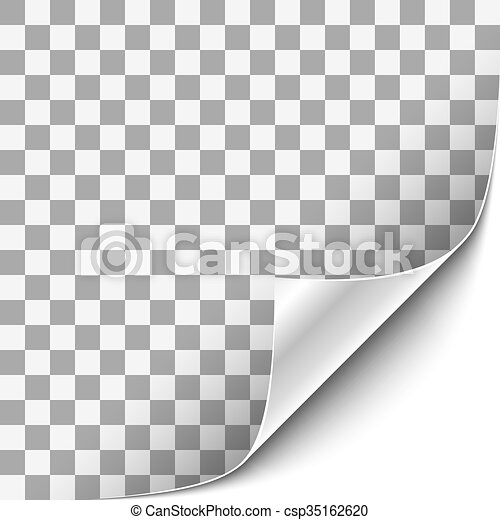 Curled Corner with White Background - csp35162620