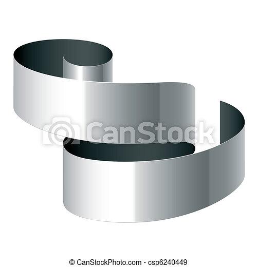 Curled ribbon - csp6240449