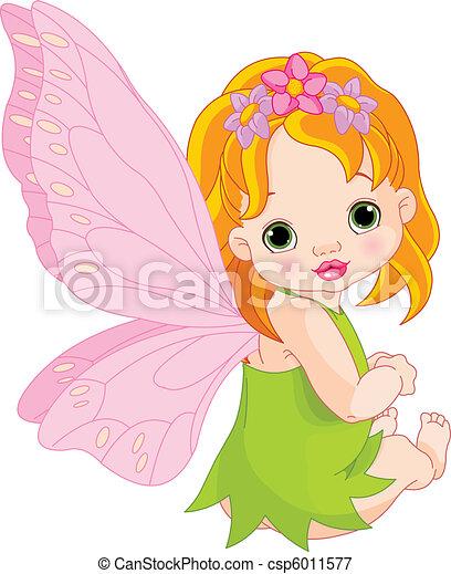 Cute baby Fairy - csp6011577