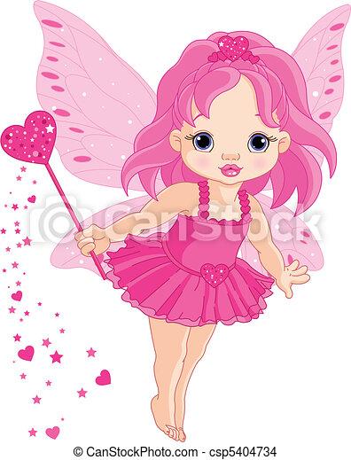 Cute little baby Love fairy - csp5404734