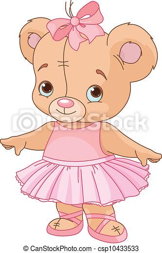Cute Teddy Bear Ballerina - csp10433533