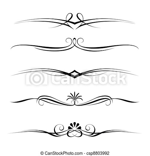 decorative elements, border and page rules - csp8803992