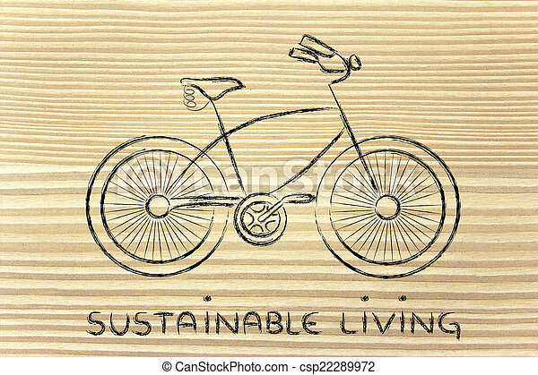 design of a bicycle, symbol of active and sustainable living - csp22289972