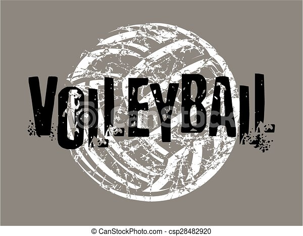 distressed volleyball - csp28482920