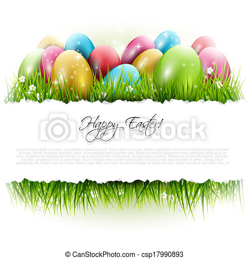 Easter background with copyspace - csp17990893