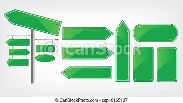 Editable street signs - csp10165137
