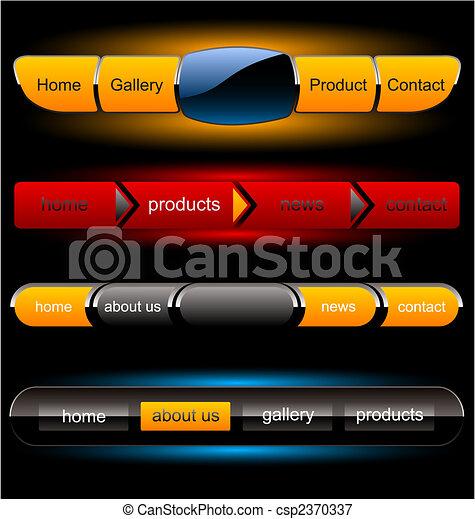 Editable website vector buttons - csp2370337