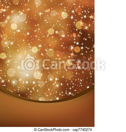 Elegant christmas background with copyspace. EPS 8 - csp7740274