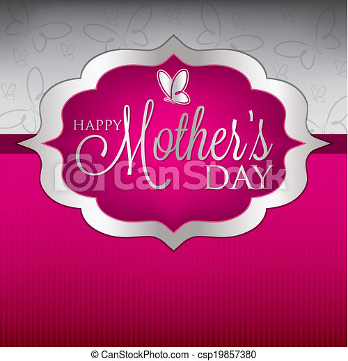 Elegant Mother's Day card in vector format. - csp19857380