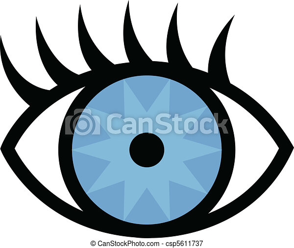 Eye and eyelashes - csp5611737