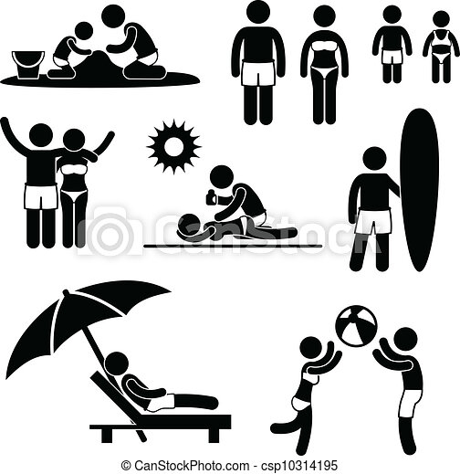 Family Summer Beach Holiday Leisure - csp10314195