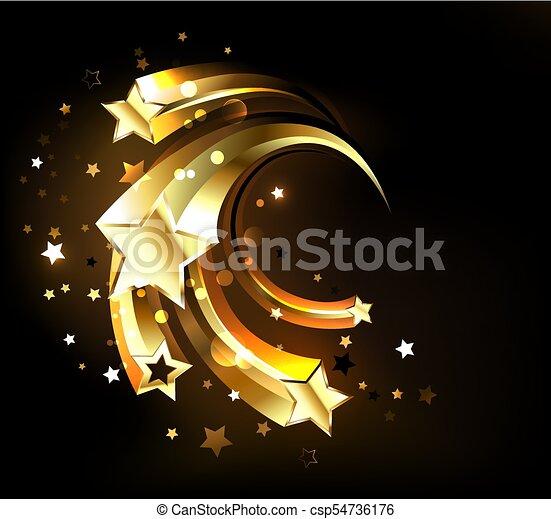 Fast golden stars - csp54736176