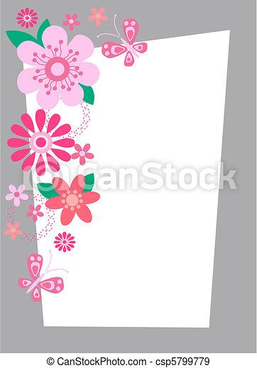 flower card - csp5799779