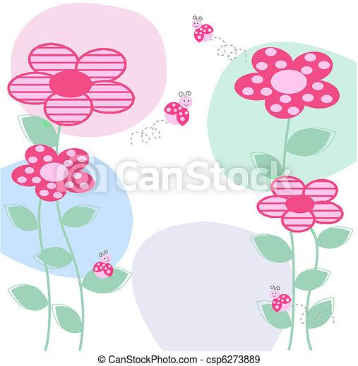 flower card - csp6273889
