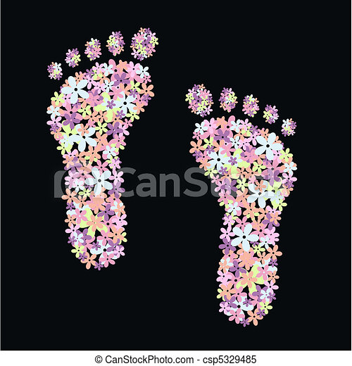 flower feet - csp5329485