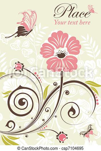 Flower frame - csp7104695