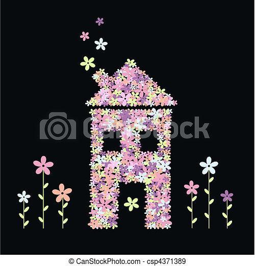 flower house - csp4371389