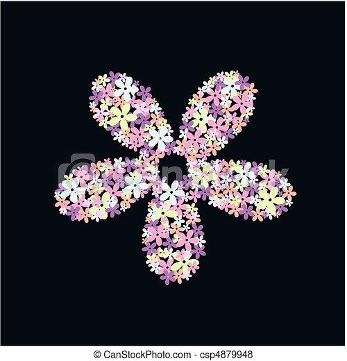 flower pattern - csp4879948