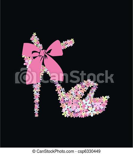 flower shoe - csp6330449