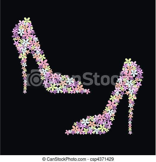 flower shoes - csp4371429