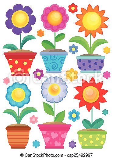 Flower theme collection 2 - csp25492997