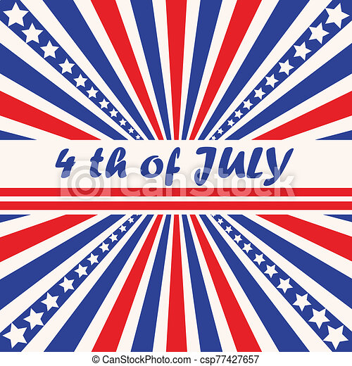 Fourth of July background - csp77427657