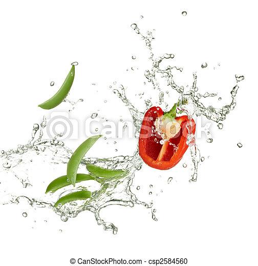 fresh capsicum and peas - csp2584560