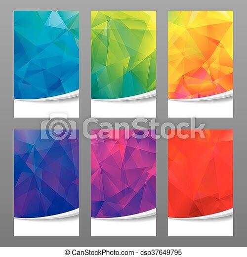 Geometric Colors Background. - csp37649795