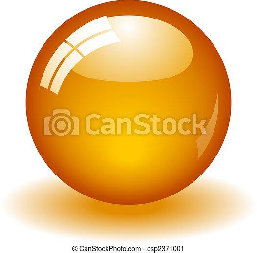 Glossy Orange Ball - csp2371001