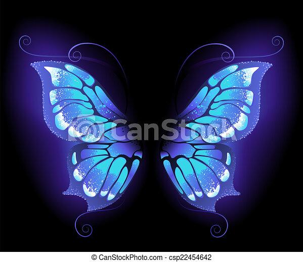 glowing butterfly wings - csp22454642