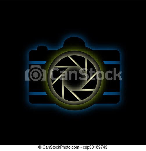 Glowing camera - csp30189743