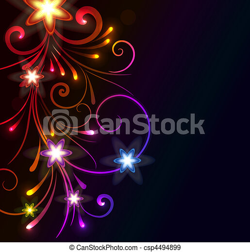 glowing floral background - csp4494899