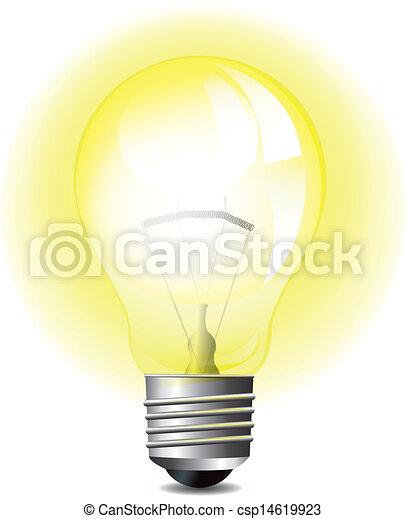 Glowing Light Bulb - csp14619923