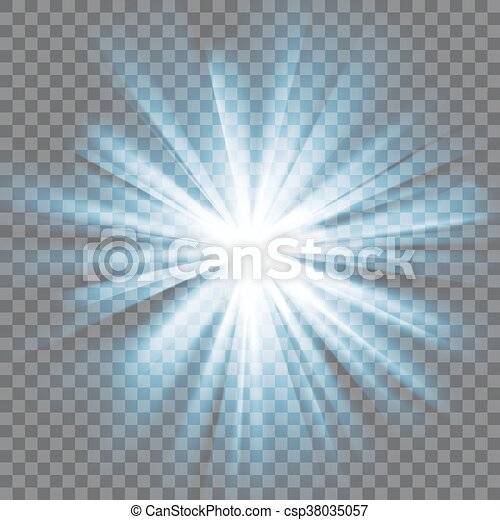 Glowing light burst - csp38035057
