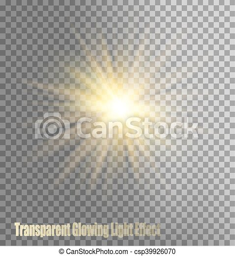 Glowing Light Effect - csp39926070
