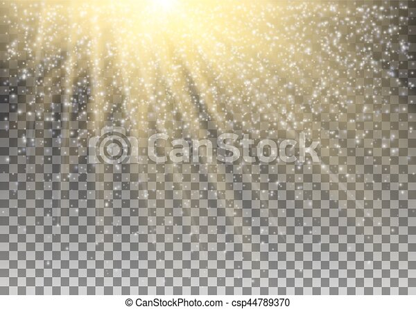 Glowing Light Effect On Transparent Background. Vector - csp44789370