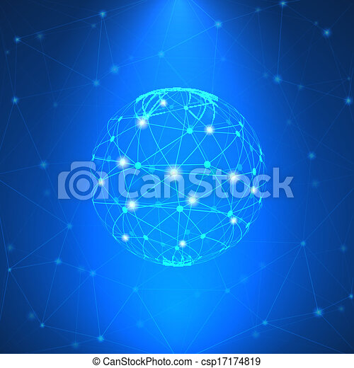 Glowing network sign - csp17174819