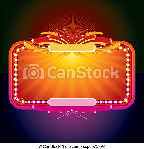 Glowing Sign - csp6575792