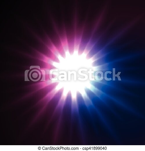 Glowing star beams abstract background - csp41899040