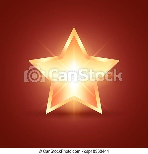 Glowing Star - csp18368444