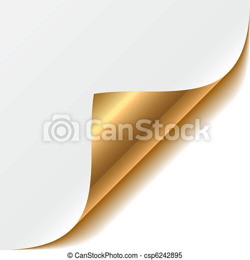 Gold curled corner - csp6242895
