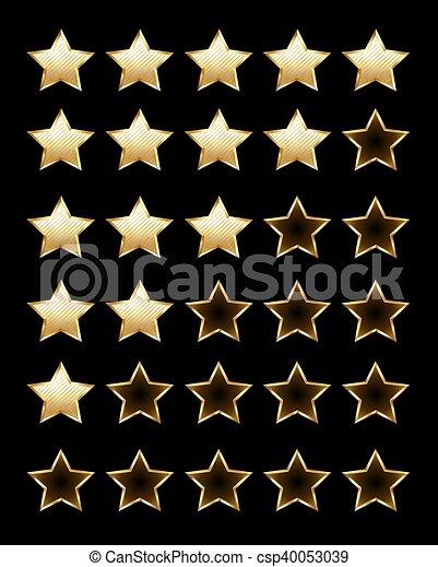Golden rating stars - csp40053039