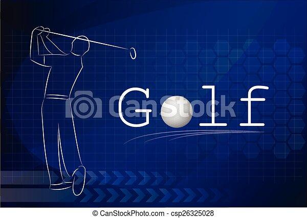 Golf background ,Vector - csp26325028