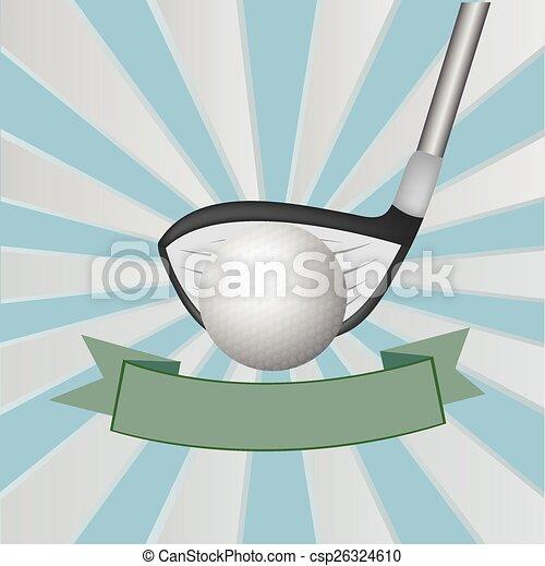 Golf background ,Vector - csp26324610