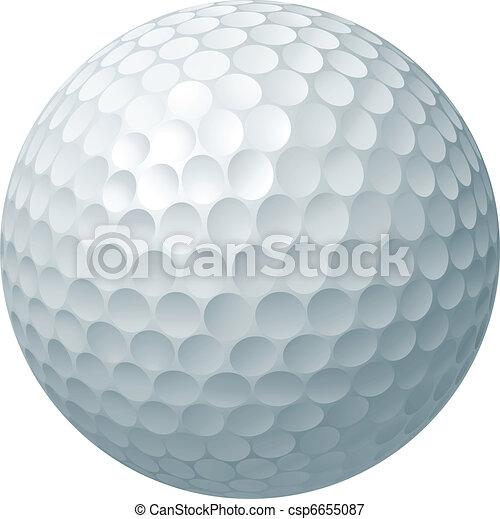 Golf ball illustration - csp6655087