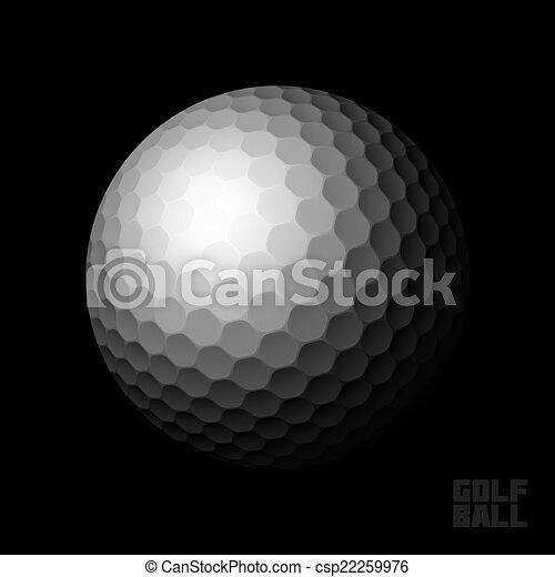 Golf ball on black - csp22259976