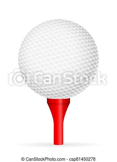 Golf ball on tee - csp81450278