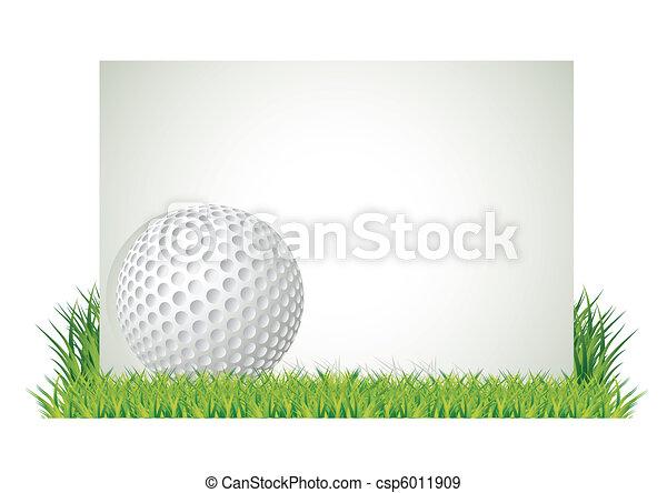 Golf banner - csp6011909