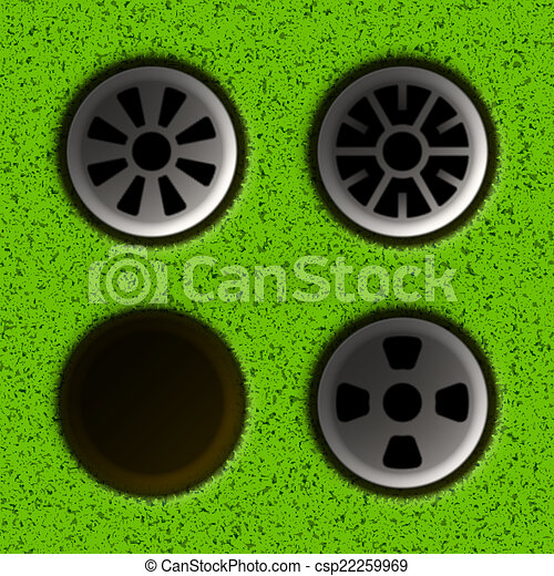 Golf hole - csp22259969